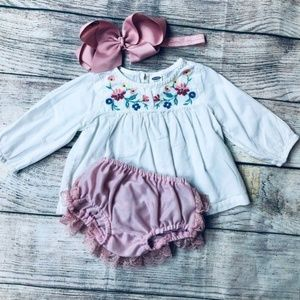 Old Navy 3-6m floral top bloomer